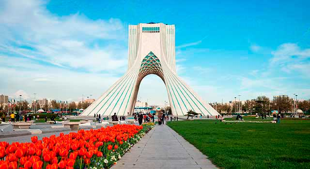 The airport is located 30 kilometres southwest of Tehran.
